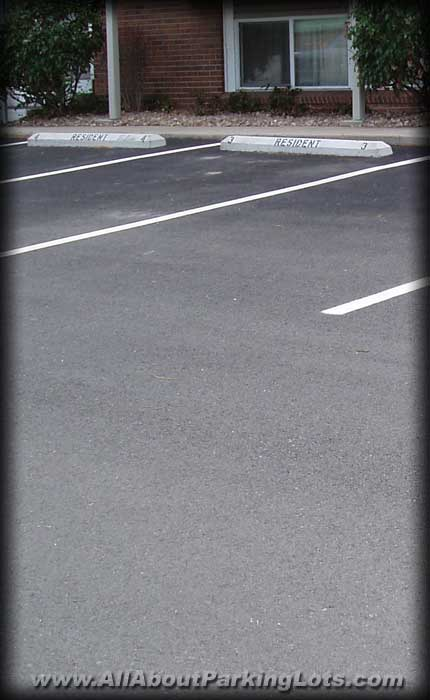a new parking lot installed by a reputable asphalt paving contractor