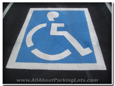 Expert pavement marking handicap emblem.