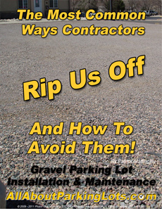 gravel parking lot scams and rip offs eBook cover