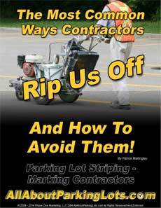 parking lot striping scams and rip offs eBook cover