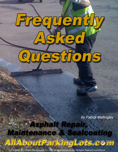asphalt parking lot maintenance frequently asked questions