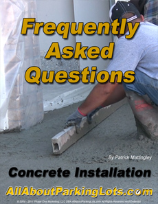 concrete parking lot installation frequently asked questions