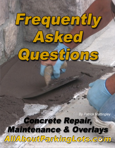 concrete parking lot maintenance frequently asked questions
