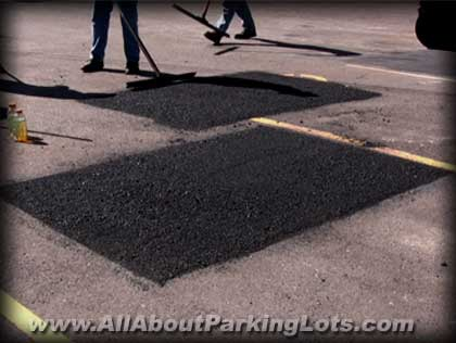 asphalt infrared patching by professional asphalt repair companies