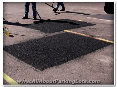 asphalt infrared patching by professional asphalt repair contractors