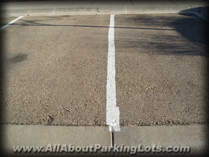Parking lot striping done wrong